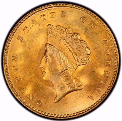 Picture of (1856-1889) $1 Gold Indian Head Type 3 VF (Random Year)