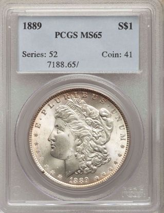Picture of Morgan Dollars PCGS/NGC MS65