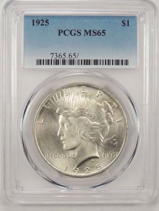 Picture of Peace Dollars PCGS MS65