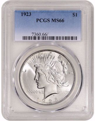Picture of Peace Dollars PCGS MS66