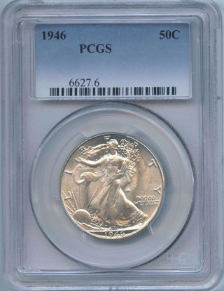 Picture of Walking Liberty Halves MS65 PCGS