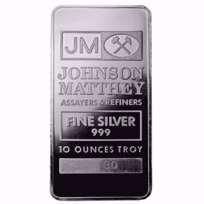 Picture of 10 oz Johnson Matthey Silver Bar