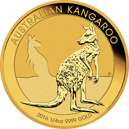 Picture for category 1/4 oz Australian Gold Kangaroo/Nugget BU