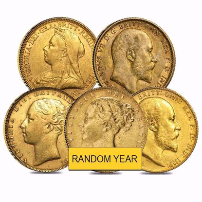 Picture of British Gold Sovereign Avg Circulated (Random Year)