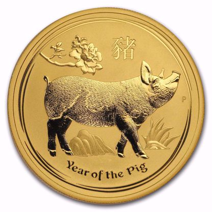 Picture of 2019 1 oz Australian Gold Lunar Year of the Pig