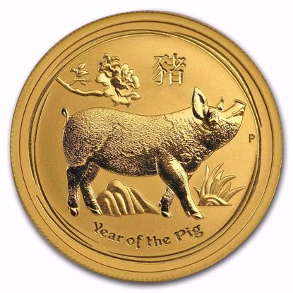 Picture of 2019 1/2 oz Australian Gold Lunar Year of the Pig