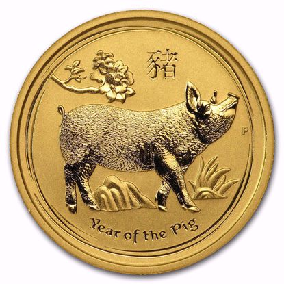 Picture of 2019 1/4 oz Australian Gold Lunar Year of the Pig