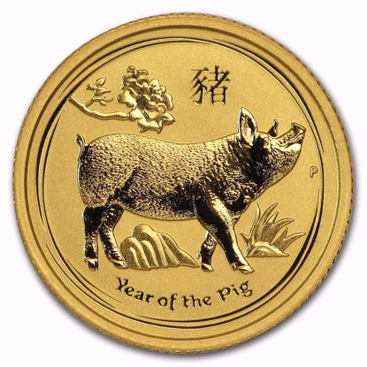 Picture of 2019 1/10 oz Australian Gold Lunar Year of the Pig