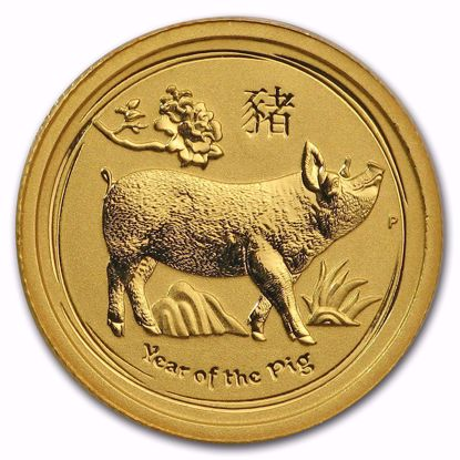 Picture of 2019 1/20 oz Australian Gold Lunar Year of the Pig
