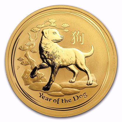 Picture of 2018 1 oz Australian Gold Lunar Year of the Dog