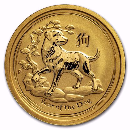 Picture of 2018 1/4 oz Australian Gold Lunar Year of the Dog