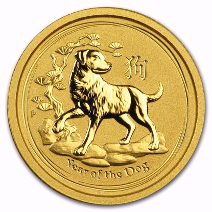 Picture of 2018 1/20 oz Australian Gold Lunar Year of the Dog