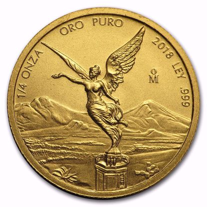 Picture of 2018 1/4 oz Mexican Gold Libertad BU