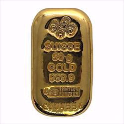 Picture of 50 gr Pamp Suisse Gold Bar
