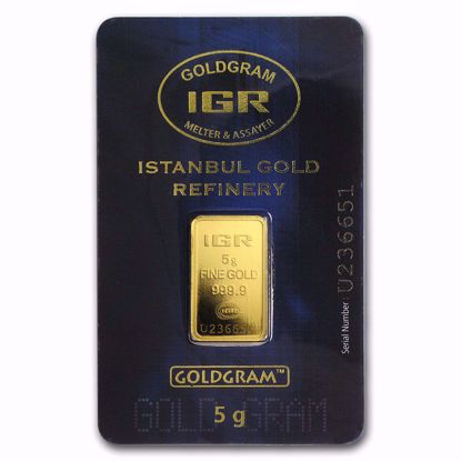 Picture of 5 gr Gold Bar