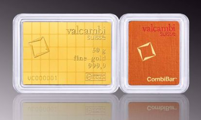 Picture of 50 gr Valcambi Gold Combi Bar