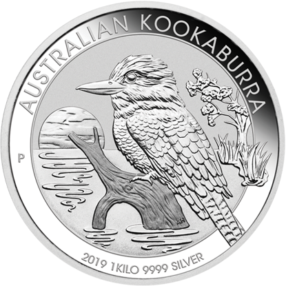 Picture of 2019 1 Kilo Australian Silver Kookaburra