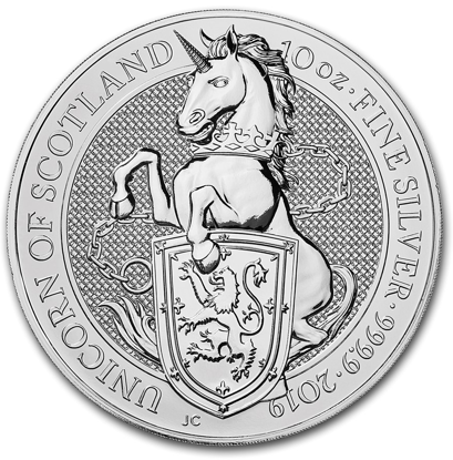 Picture of 2019 10 oz British Queen's Beasts Silver Unicorn