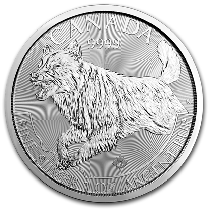 Picture of 2018 1 oz Canadian Silver Wolf