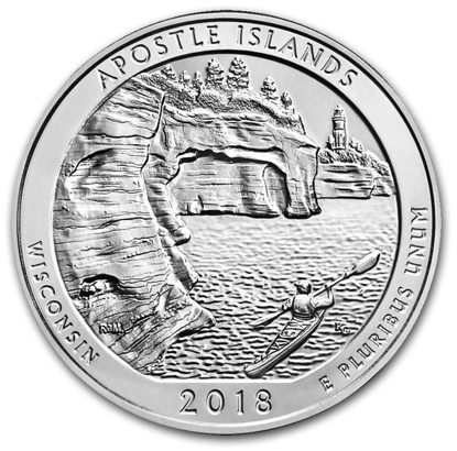 Picture of 2018 5 oz America the Beautiful Silver Apostle Islands Nat. Park Coin