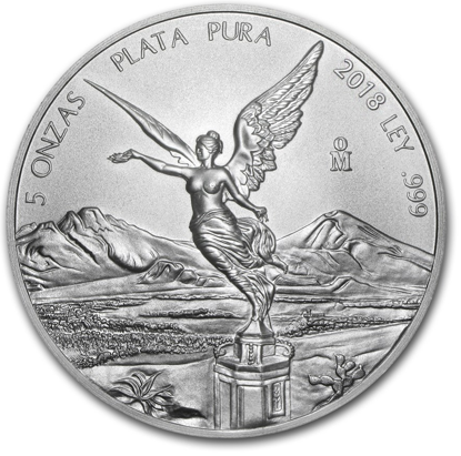 Picture of 2018 5 oz Mexican Silver Libertad