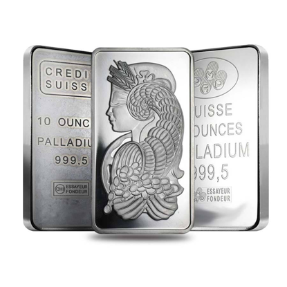 Picture of 10 oz Palladium Bars (Generic Brands)