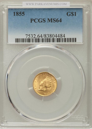 Picture of (1854-1856) $1 Indian Head Gold Type 2 PCGS/NGC MS64 (Random Year)