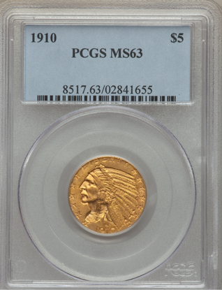 Picture of (1908-1929) $5 Indian Gold PCGS/NGC MS63 (Random Year)