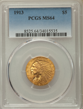 Picture of (1908-1929) $5 Indian Gold PCGS/NGC MS64 (Random Year)