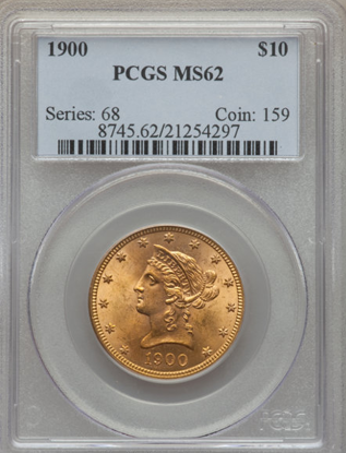 Picture of (1866-1907) $10 Liberty Gold PCGS/NGC MS62 (Random year)