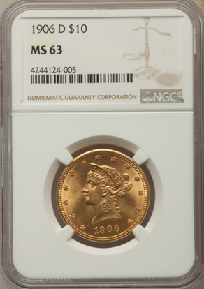 Picture of (1866-1907) $10 Liberty Gold PCGS/NGC MS63 (Random Year)