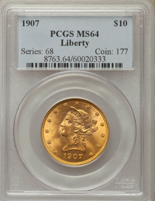 Picture of (1866-1907) $10 Liberty Gold PCGS/NGC MS64 (Random Year)
