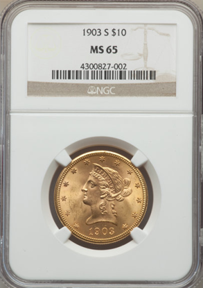 Picture of (1866-1907) $10 Liberty Gold PCGS/NGC MS65 (Random Year)