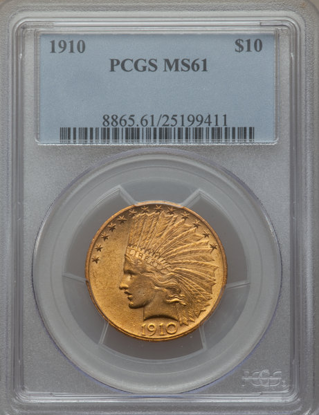 Picture of $10 Indian Gold (1907-1933) PCGS/NGC MS61 (Random Year)