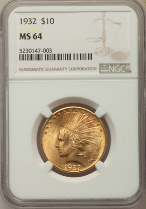 Picture of $10 Indian Gold (1907-1933) PCGS/NGC MS64 (Random Year)