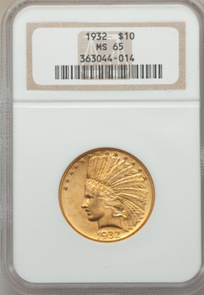 Picture of $10 Indian Gold (1907-1933) PCGS/NGC MS65 (Random Year)