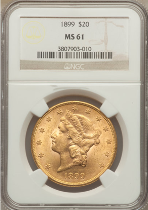 Picture of (1849-1907) $20 Liberty Gold PCGS/NGC MS61 (Random Year)