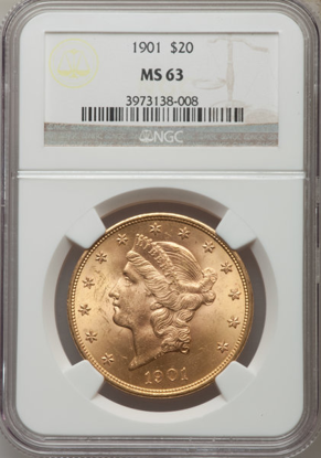 Picture of (1849-1907) $20 Liberty Gold PCGS/NGC MS63 (Random Year)