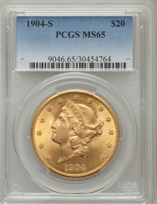 Picture of (1849-1907) $20 Liberty Gold PCGS/NGC MS65 (Random Year)