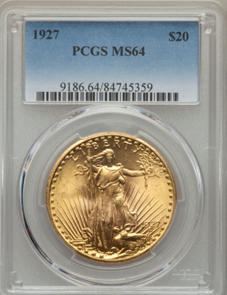 Picture of $20 Saint Gaudens With Motto PCGS/NGC MS64
