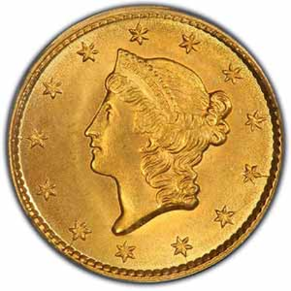 Picture of (1849-1854) $1 Gold Liberty Head Type 1 BU (Random Year)