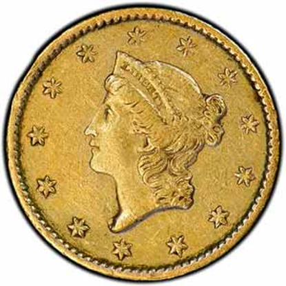 Picture of (1849-1854) $1 Gold Liberty Head Type 1 XF (Random Year)