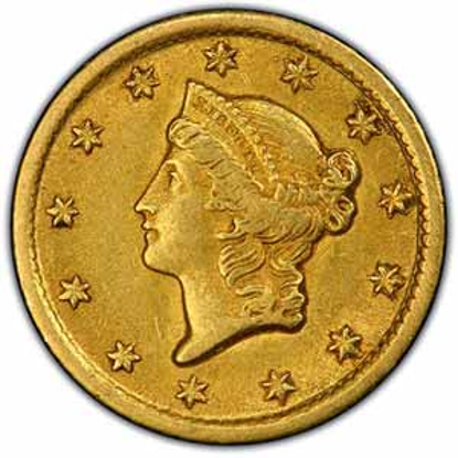Picture of (1849-1854) $1 Gold Liberty Head Type 1 VF (Random Year)
