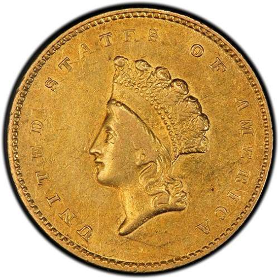 Picture of (1854-1856) $1 Indian Gold Head Type 2 XF (Random Year)