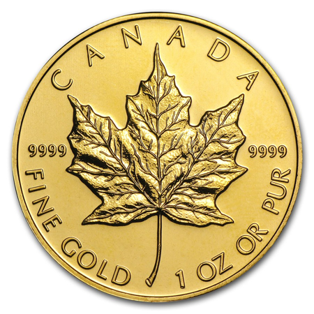 Picture for category 1 oz Canadian Gold Maple Leaf
