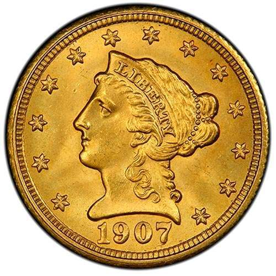 Picture of (1840-1907) $2.50 Gold Liberty BU (Random Year)