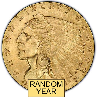 Picture of (1908-1929) $2.50 Gold Indian BU (Random Year)