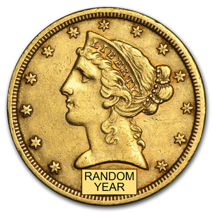 Picture of (1839-1908) $5 Gold Liberty XF (Random Year)