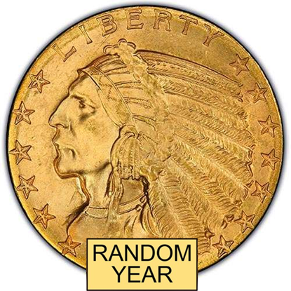 Picture of (1908-1929) $5 Gold Indian BU (Random Year)