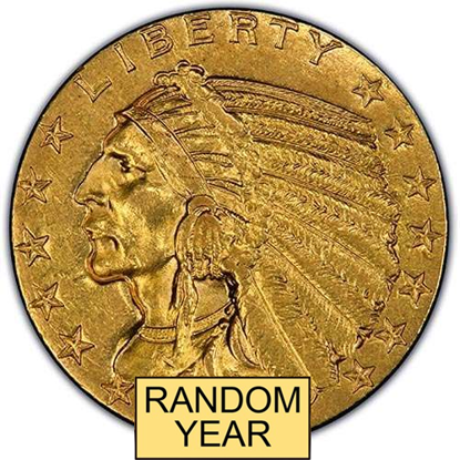 Picture of (1908-1929) $5 Gold Indian AU (Random Year)